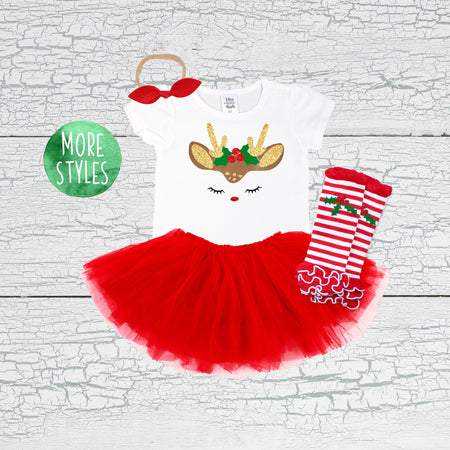 My First Christmas Girl Tutu Outfit