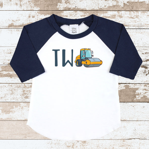 TWO Steamroller Navy Raglan