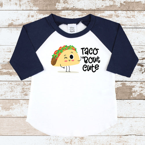 Taco Bout Cute Navy Rag