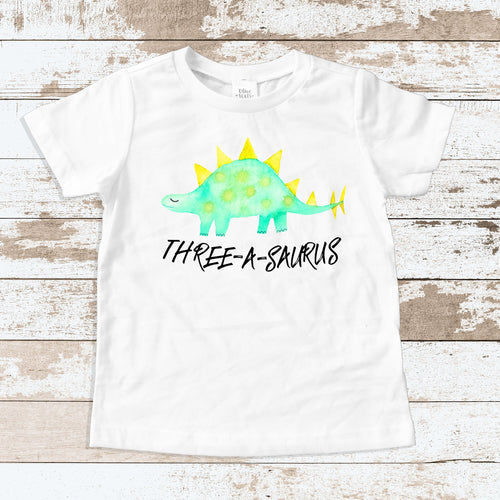 THREE-A-SAURUS White Shirt