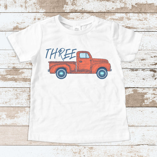 Truck Three White Shirt