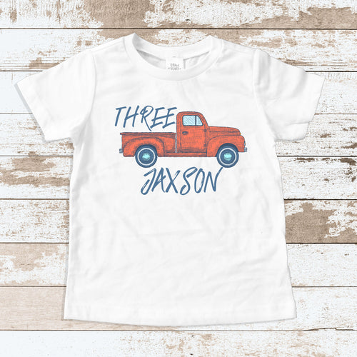 Custom Truck THREE White Shirt