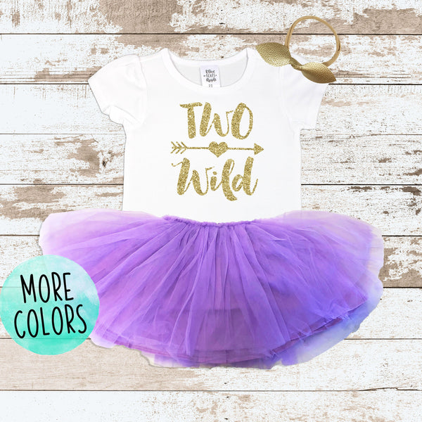 Gold Two Wild Purple Tutu Outfit