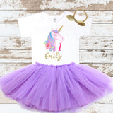 Custom Unicorn 1 Purple Tutu Outfit