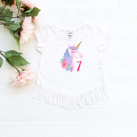 Custom Unicorn 7 Fringe Shirt