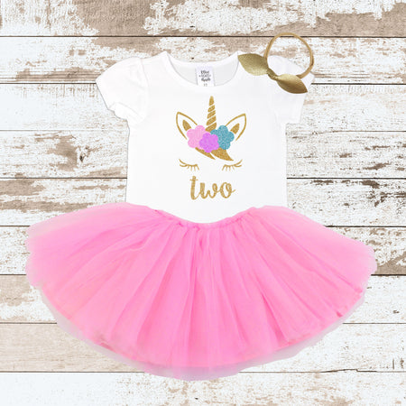 Gold Two Purple Tutu Outfit