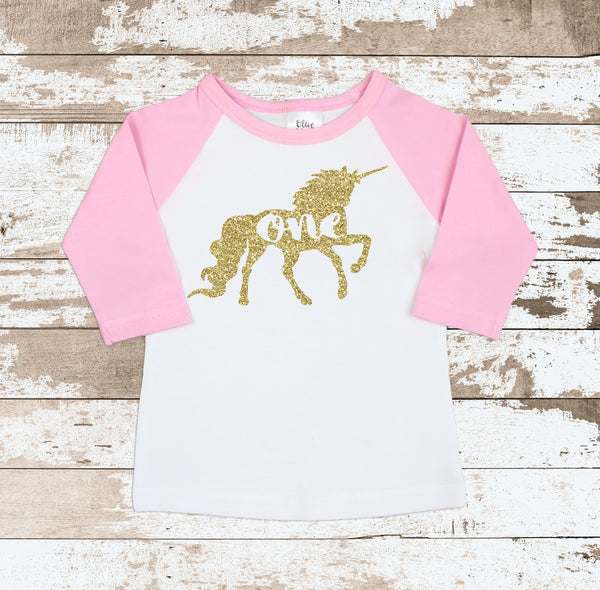 Gold One Unicorn Bodysuit
