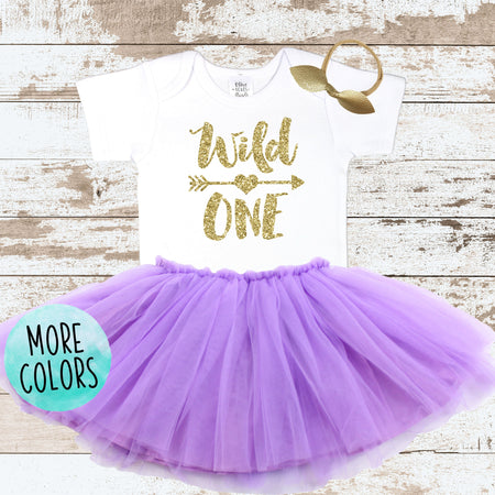 Gold Three & Fabulous Pink Tutu Outfit
