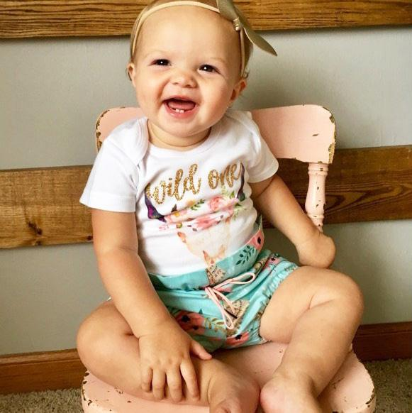 Gold Wild One Teepee Bloomer Outfit
