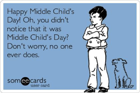 For All The Forgotten Middle Children