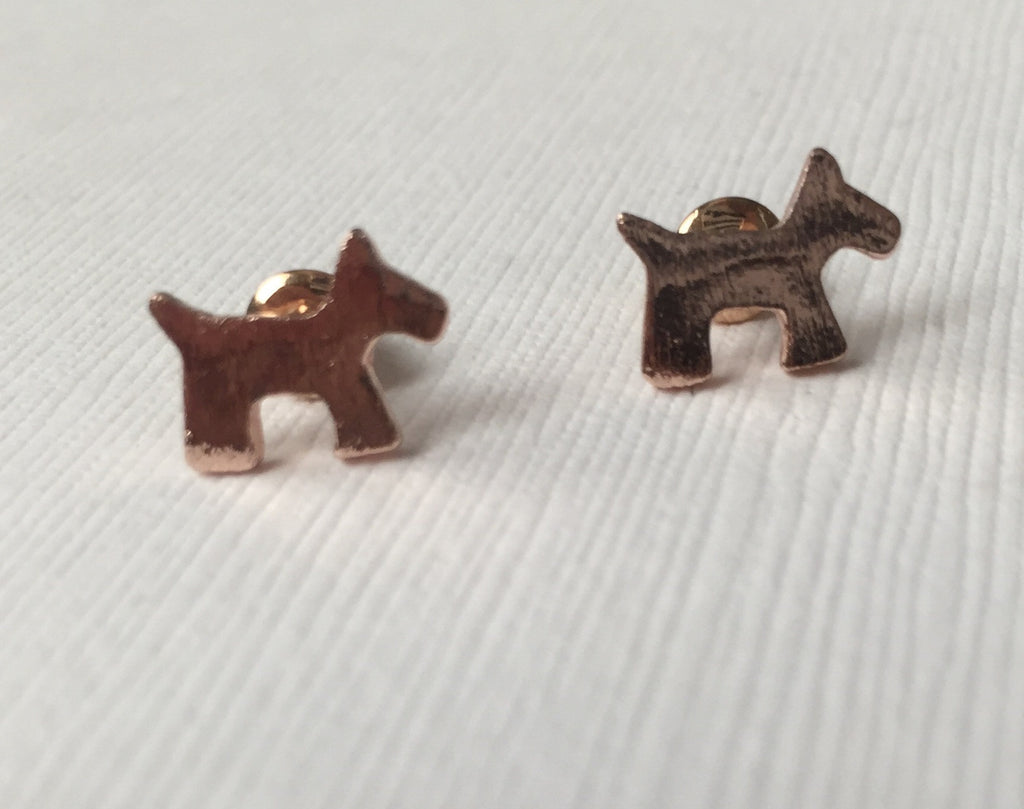 Scottie Dog Stud Earrings - Earrings - UMBUH
