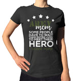 Army Mom T-Shirt - Ladies Crew Neck - UMBUH