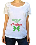 My Baby Bumps 1st Christmas Shirt - Scoop Neck - UMBUH