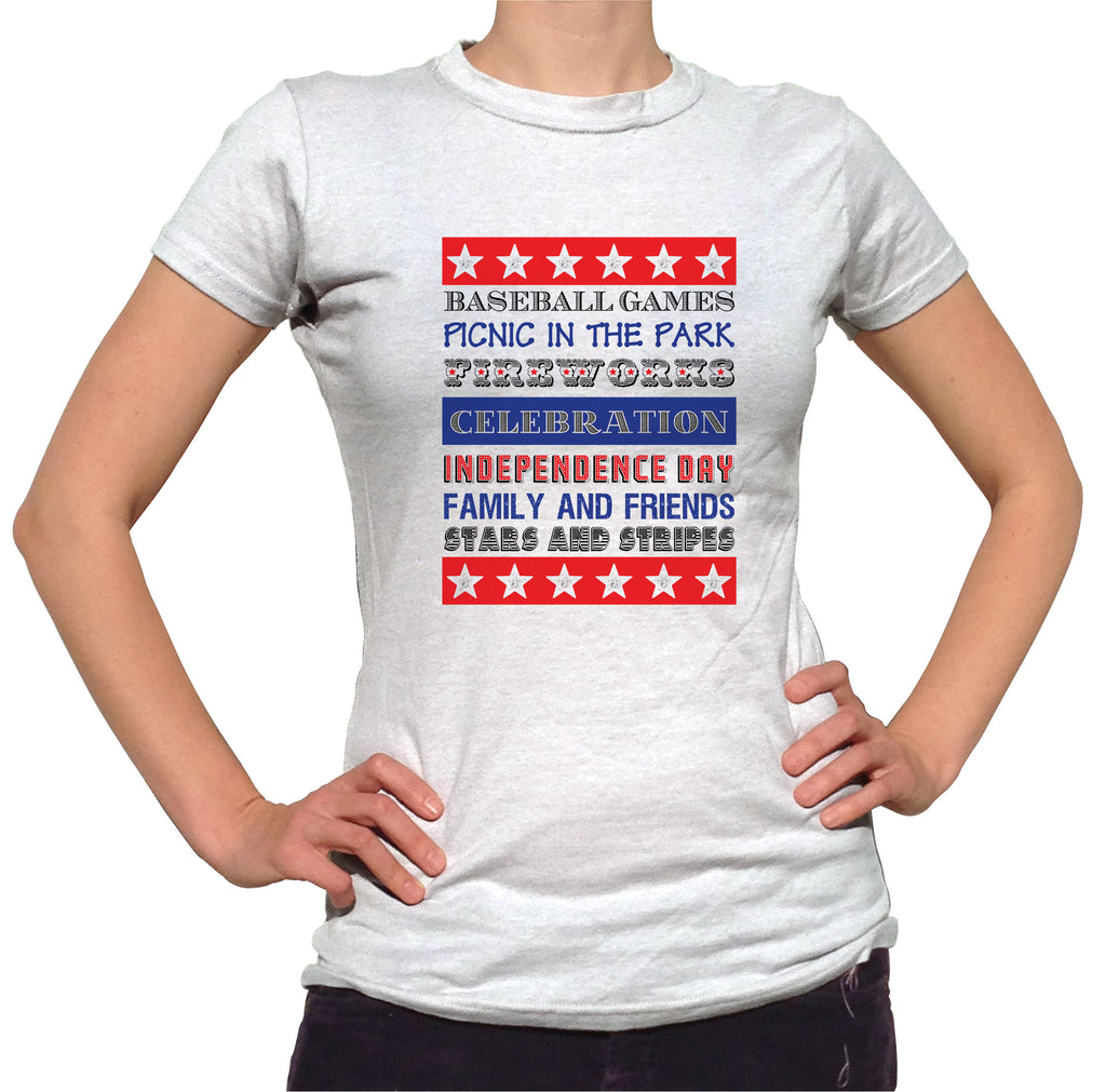 Independence Day Shirt - Ladies Crew Neck - UMBUH