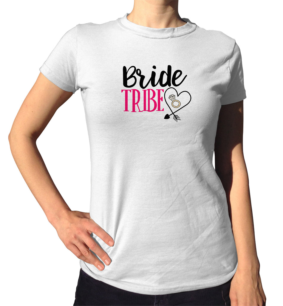 Bride Tribe T-Shirt - Ladies Crew Neck - UMBUH