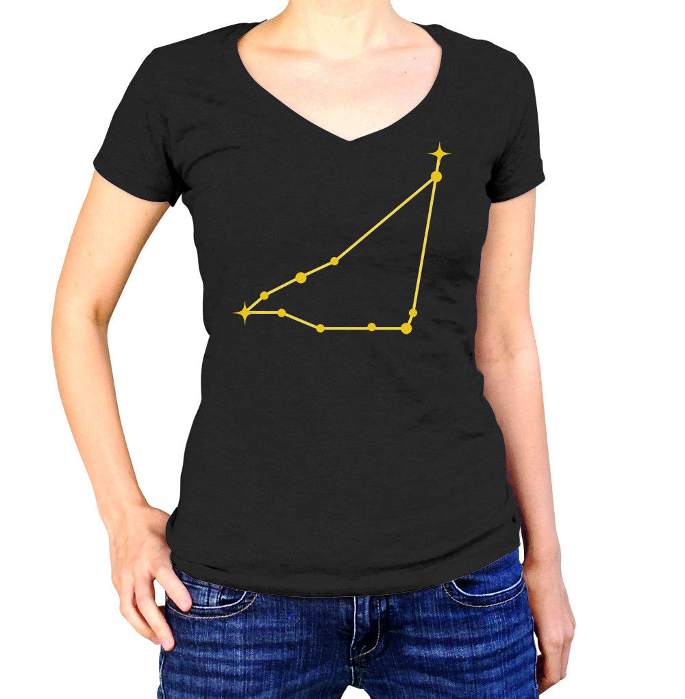 Capricorn Constellation Shirt - Ladies V Neck - UMBUH