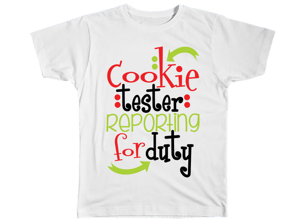 Cookie Tester Reporting For Duty Shirt - Kids T Shirt - UMBUH