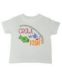 Crawl Walk Fish T-Shirt - Kids T Shirt - UMBUH