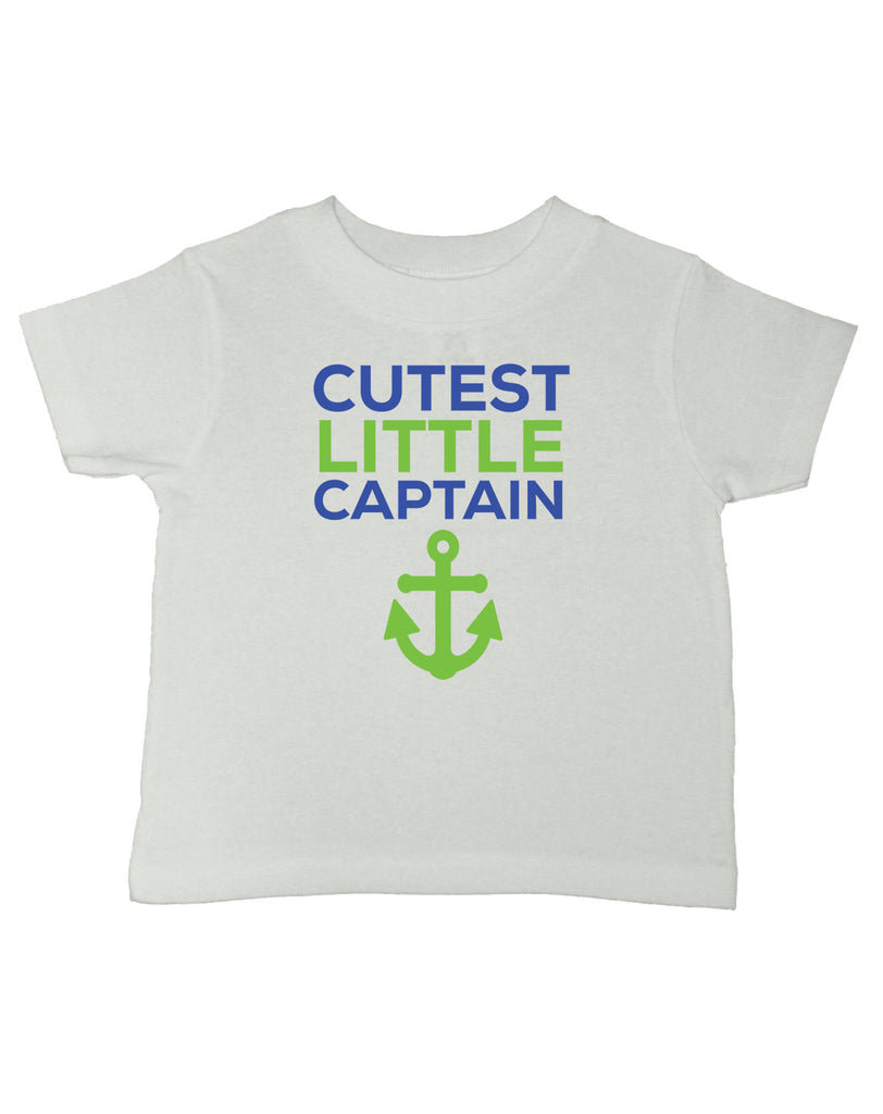 Cutest Little Captain T-Shirt - Kids T Shirt - UMBUH