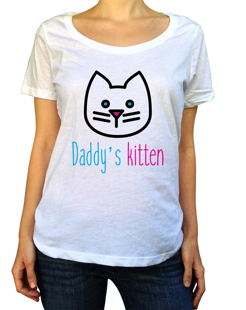 Daddy's Kitten Shirt - Scoop Neck - UMBUH