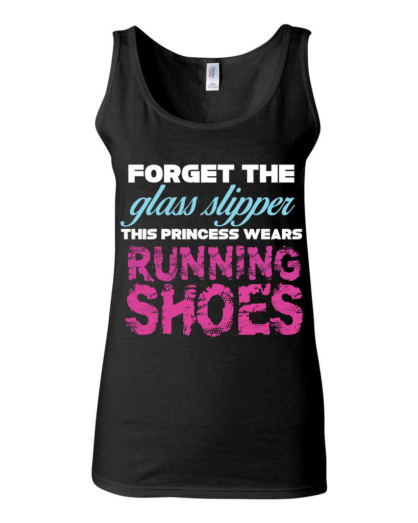 Forget The Glass Slipper Running Shoes Tank - JUNIOR FIT TANK - UMBUH