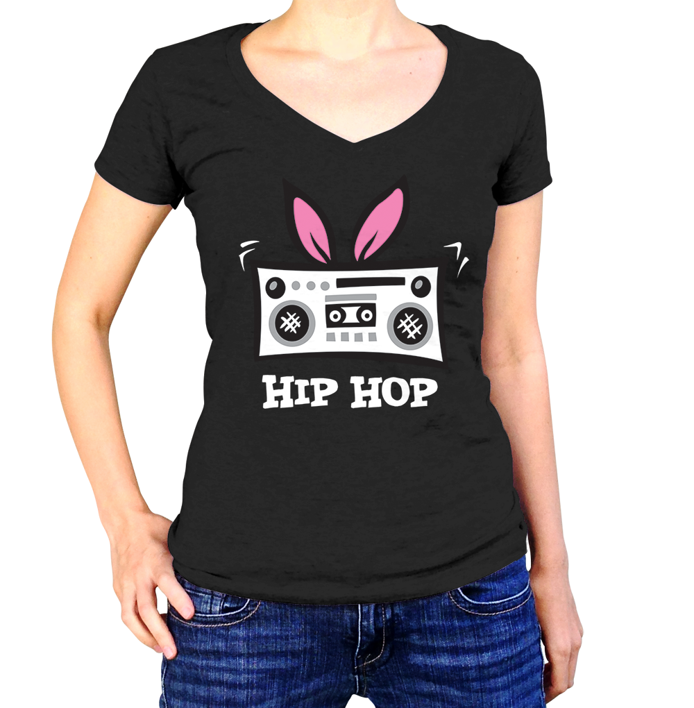 Easter Hip Hop Shirt - Ladies V Neck - UMBUH