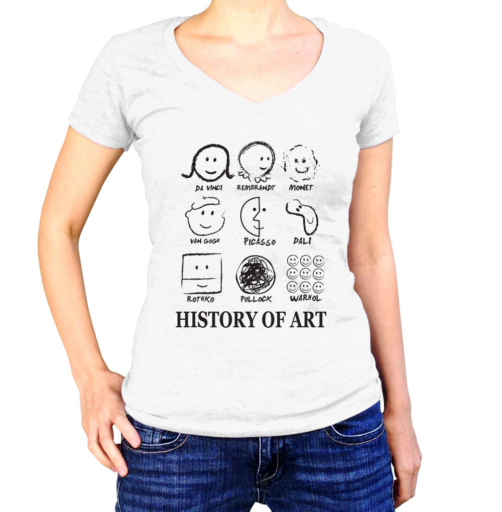 History of Art Shirt - Ladies V Neck - UMBUH