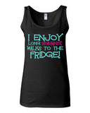 I Enjoy Long Romantic Walks To The Fridge Tank - JUNIOR FIT TANK - UMBUH