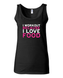 I Workout Because I Love Food Tank