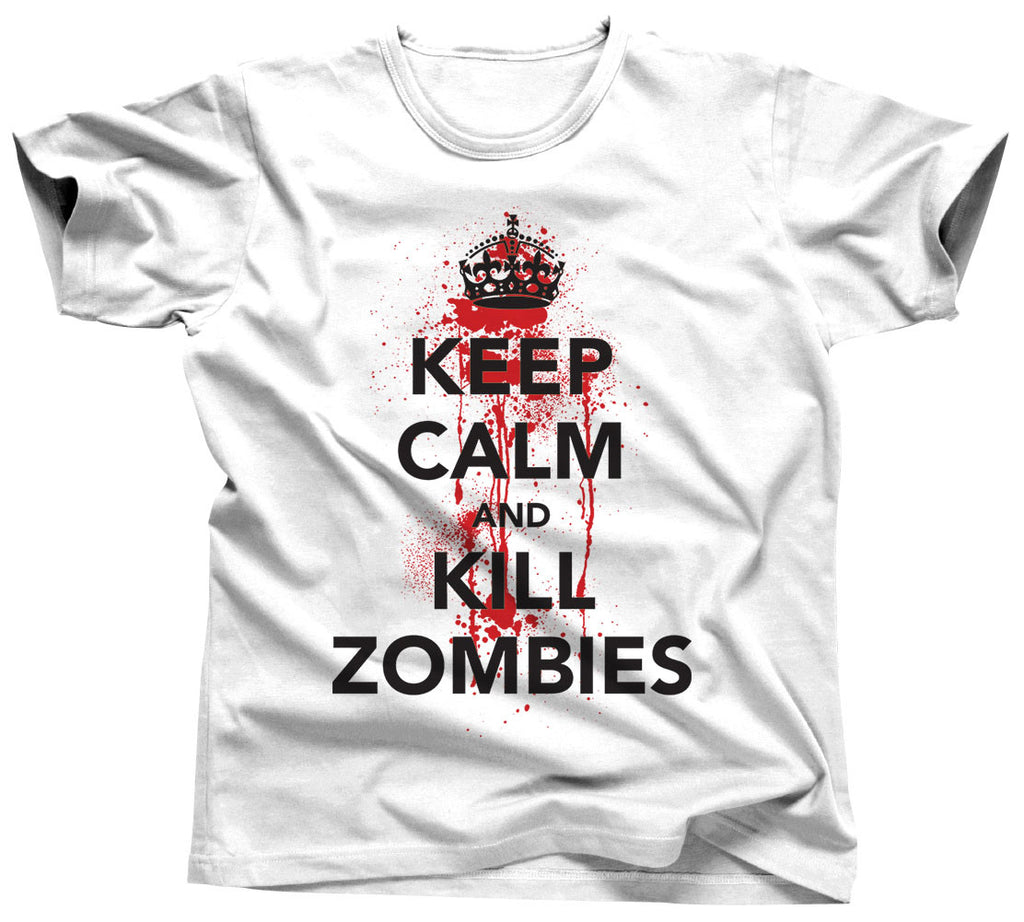 Keep Calm and Kill Zombies T-Shirt - Unisex Tee - UMBUH