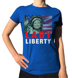 Lady Liberty Hillary Clinton Shirt - Ladies Crew Neck - UMBUH