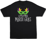 Little Miss Mardi Gras Tshirt - Kids T Shirt - UMBUH