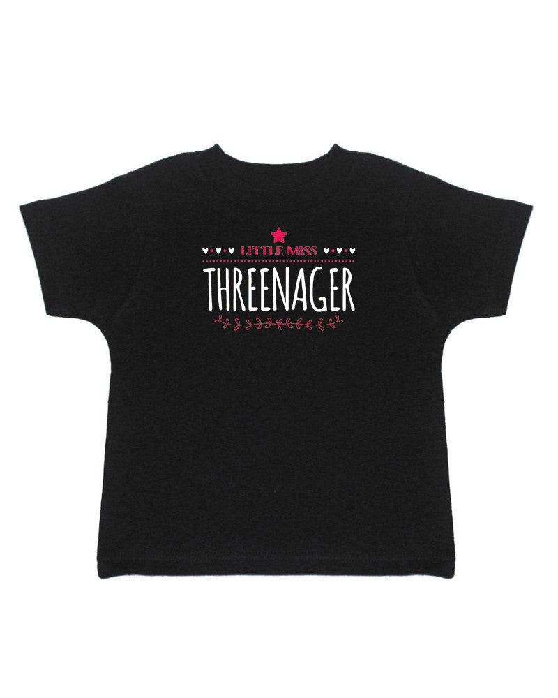Little Miss Threenager T-Shirt - Kids T Shirt - UMBUH
