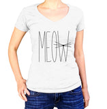Cats Meow Shirt - Ladies V Neck - UMBUH