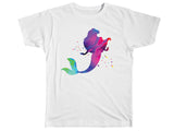 Colorful Watercolor Mermaid Shirt - Kids T Shirt - UMBUH