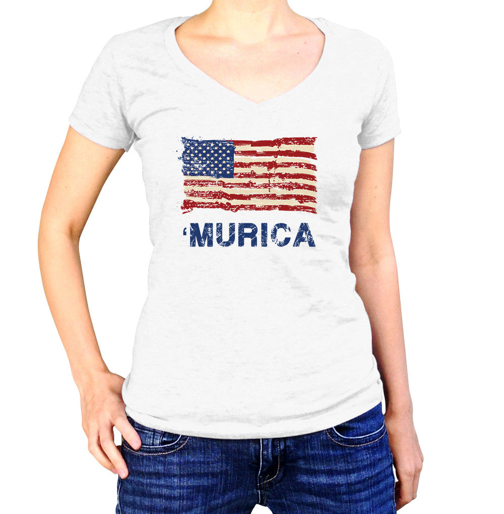 Murica TShirt - Ladies V Neck - UMBUH