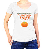 My Favorite Time of year Is Pumpkin Spice T-Shirt - Ladies V Neck - UMBUH