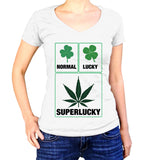 Normal Lucky Superlucky Shirt - Ladies V Neck - UMBUH