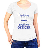 Property Of My Police Officer Shirt - Ladies V Neck - UMBUH