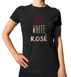 Red White Rosé Shirt - Ladies Crew Neck - UMBUH