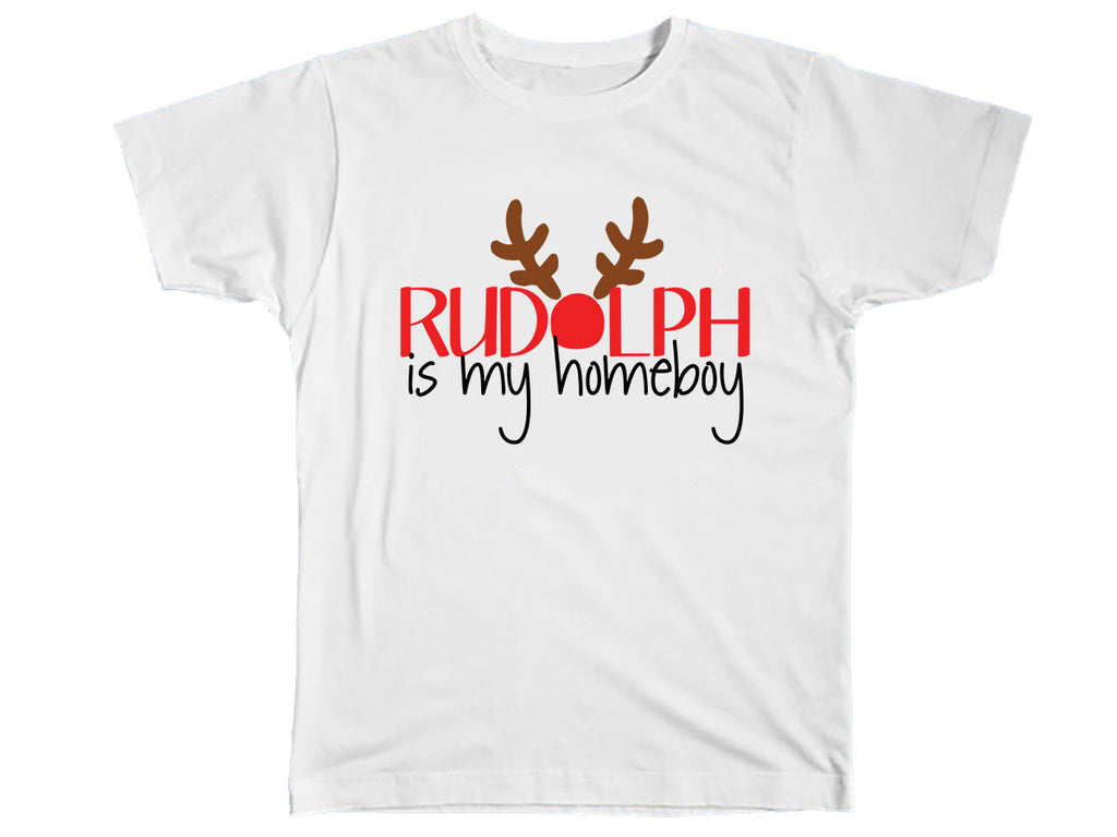 Rudolph Is My Homeboy Shirt - Kids T Shirt - UMBUH