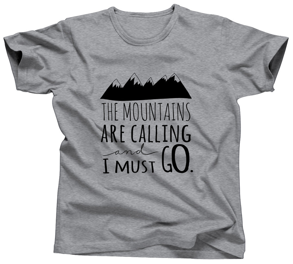 The Mountains Are Calling and I Should Go Tshirt - Unisex Tee - UMBUH - 4