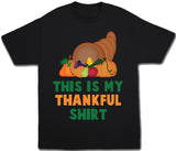 This Is My Thankful Shirt Thanksgiving T-Shirt - Kids T Shirt - UMBUH