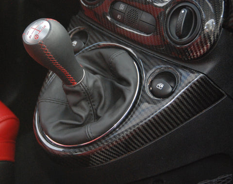 Fiat 500 Abarth Carbon Fiber Windows Drive Surround Cover  - MDI CarbonFiber - 1