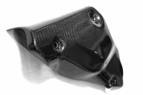 Ducati Carbon Fiber Exhaust Collector Guard for models 848 1098 1198  - MDI CarbonFiber - 1