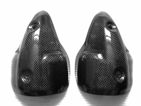 Ducati Carbon Fiber Monster Silencer Guard for models 696 1100 1100S Years 2008  - MDI CarbonFiber