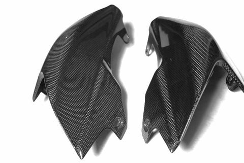 Ducati Carbon Fiber Hypermotard 1100 1100S Side Underseat Fairings  - MDI CarbonFiber - 1