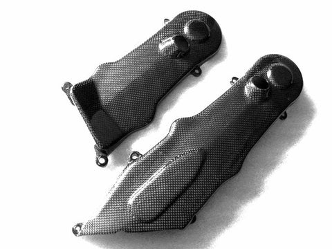 Ducati Carbon Fiber Hypermotard 1100 1100 S 2007 2008 Belt Covers  - MDI CarbonFiber