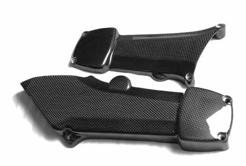 Ducati Carbon Fiber Belt Cover Horizontal Cylinder for models 500 600 650  - MDI CarbonFiber - 1