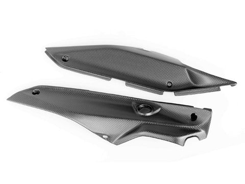 Ducati Carbon Fiber New Hypermotard Rear Lower Panels Plain / Matte - MDI CarbonFiber